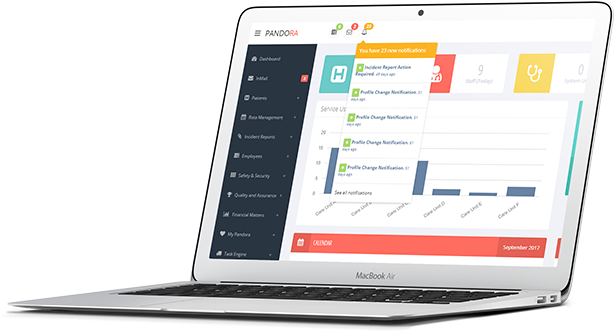 care management system - live dashboards